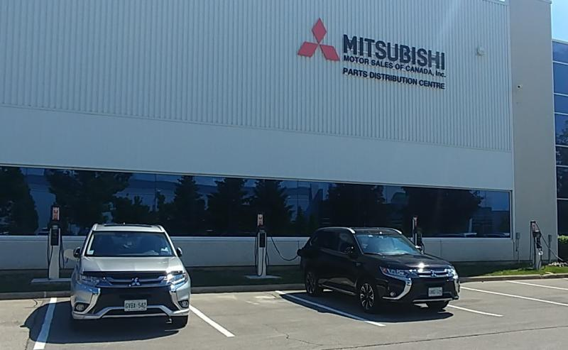New CT4K charging stations at Mitsubishi Motor Sales of Canada - Photo
