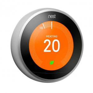 Google Nest 3rd Generation Wi-Fi Smart Learning Thermostat with Nest Temperature Sensor Bundle - Photo #2