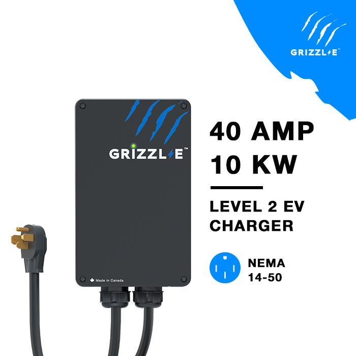 Grizzl-E Classic 40Amp Level 2 EV Charger – NEMA 14-50, 24ft Premium Cable - Photo</span>