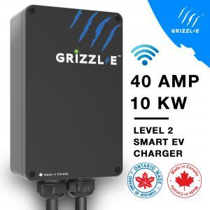 Grizzl-E Smart 40Amp Level 2 EV Charger – NEMA 14-50, 24ft Premium Cable