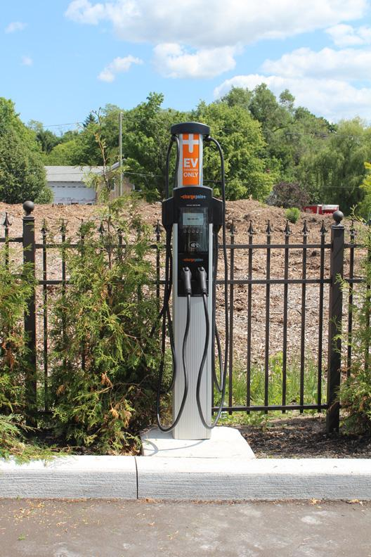 EV charger replacement at Sancora Ltd. in Brooklin, Ontario. - Photo