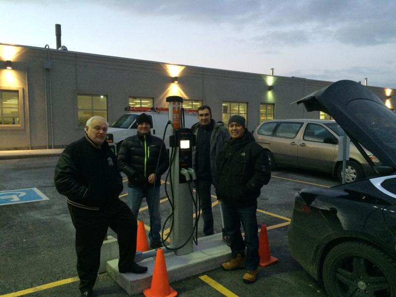 Autochargers.ca installed Dual Port CT4021 station in Brampton - Photo