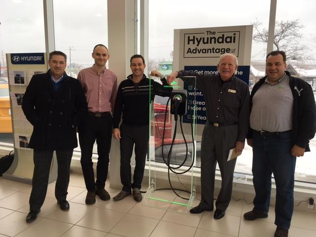 One CPF25 and One CT4025 ChargePoint Stations Are Installed At Collingwood Hyundai. ChargePoint Home Display Program By Autochargers.ca Is In Effect At The Dealership As Well. - Photo