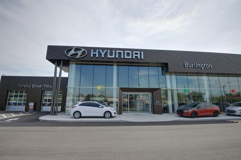 One AeroVironment RS-25 and One CT4000 ChargePoint Stations are Installed at Burlington Hyundai Dealership. - Photo