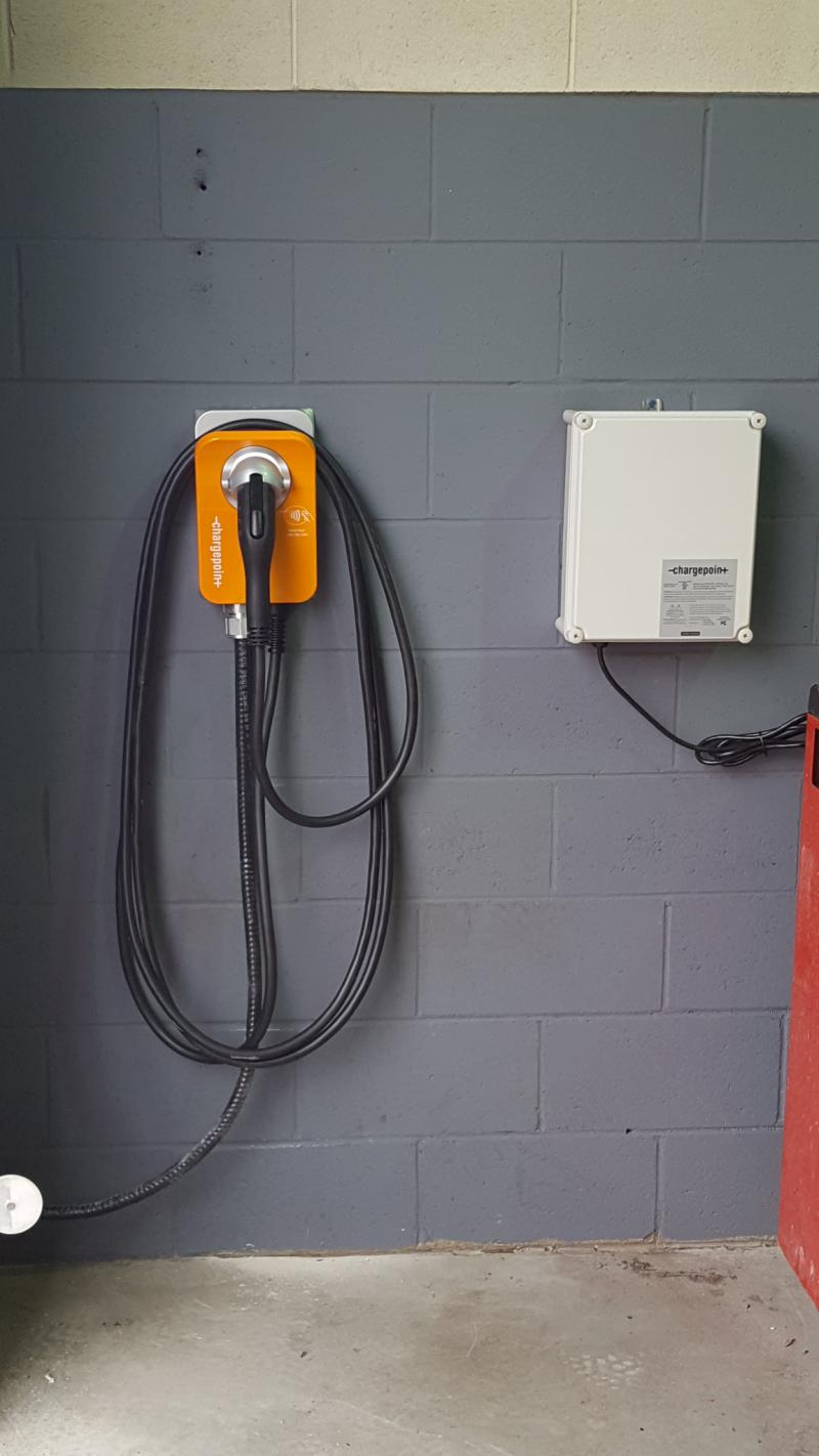 One CPF25 and One CT4000 ChargePoint Stations are Installed at Mississauga Hyundai Dealership. - Photo