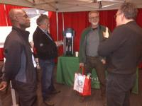 ChargePoint charging station demo unit is on the display at Toronto Green Living Show - Photo
