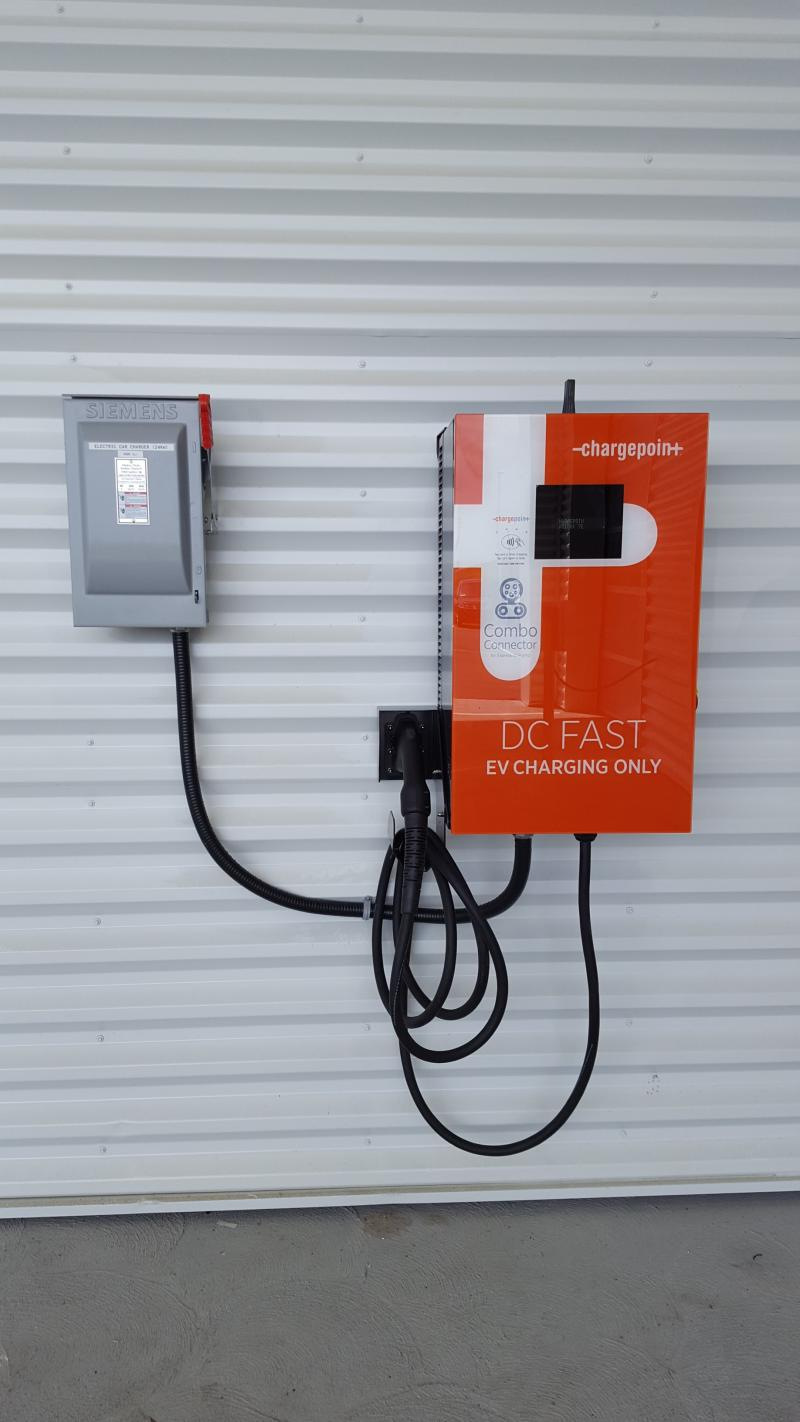 "CPE100 DC ""Quick"" Charger is Installed at Lauria Volkswagen in Port Hope, ON. - Photo"