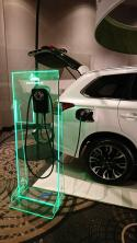 Our ChargePoint Home Display Unit at Mitsubishi Canada Conference. - Photo
