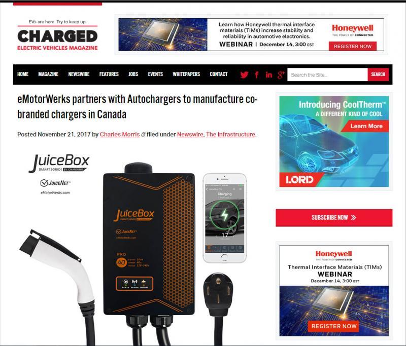 Article de magazine Véhicules électriques chargés  - Photo