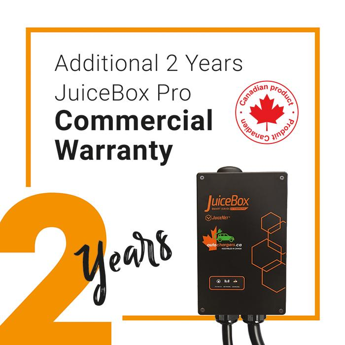 JuiceBox PRO Commercial extra 2 year Replacement Warranty - Photo