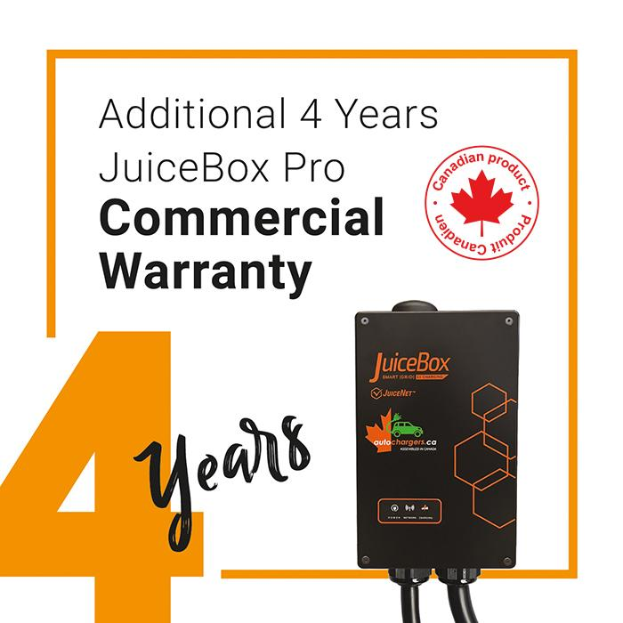 JuiceBox PRO Commercial extra 4 year Replacement Warranty - Photo